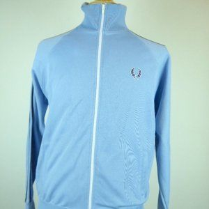 FRED PERRY BLUE TWIN TAPES ZIP FRONT JACKET M
